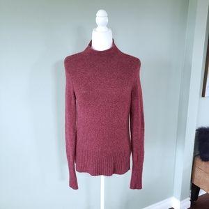 Madewell cozy soft mock neck burgundy sweater sz S